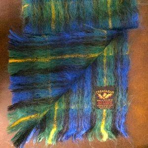 Mohair/Wool/Nylon blend Tartan scarf by CREAGARAN